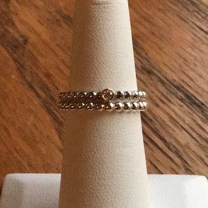 Pandora Genuine Diamond Ring Set